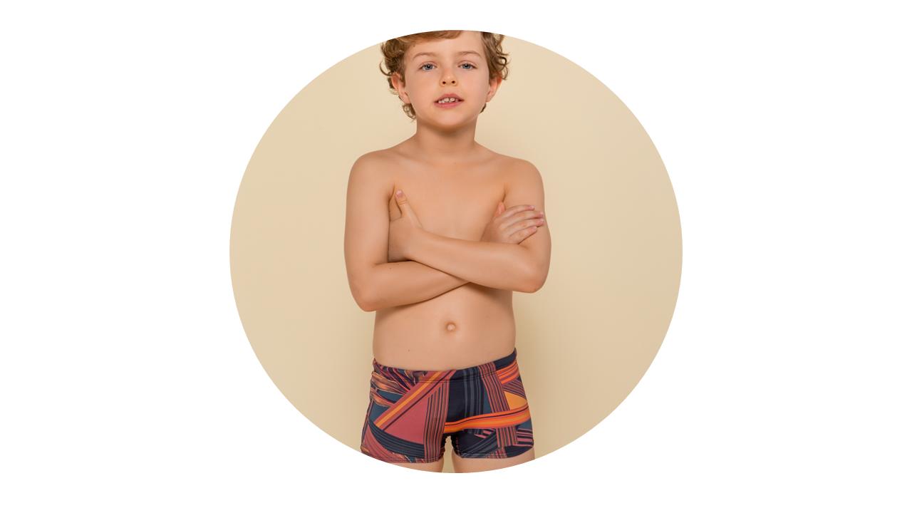 p6001 sunga infantil menino estampada nova colecao