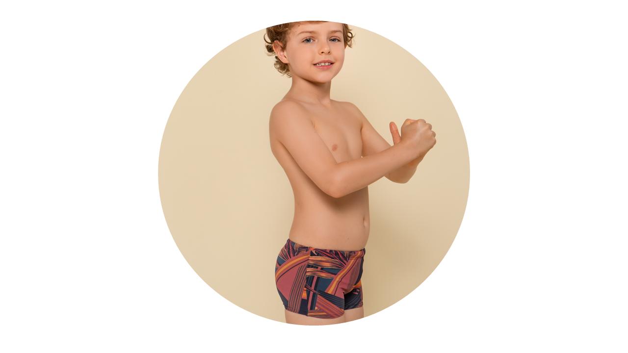 p6001 sunga infantil menino estampada nova colecao 1