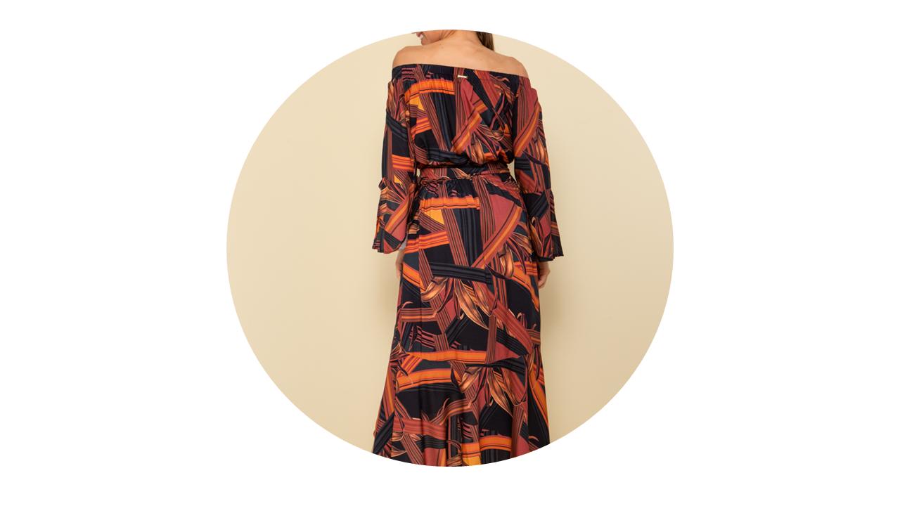 p70365 vestido longo praia manga longa estampado rouge fivela nova colecao 2