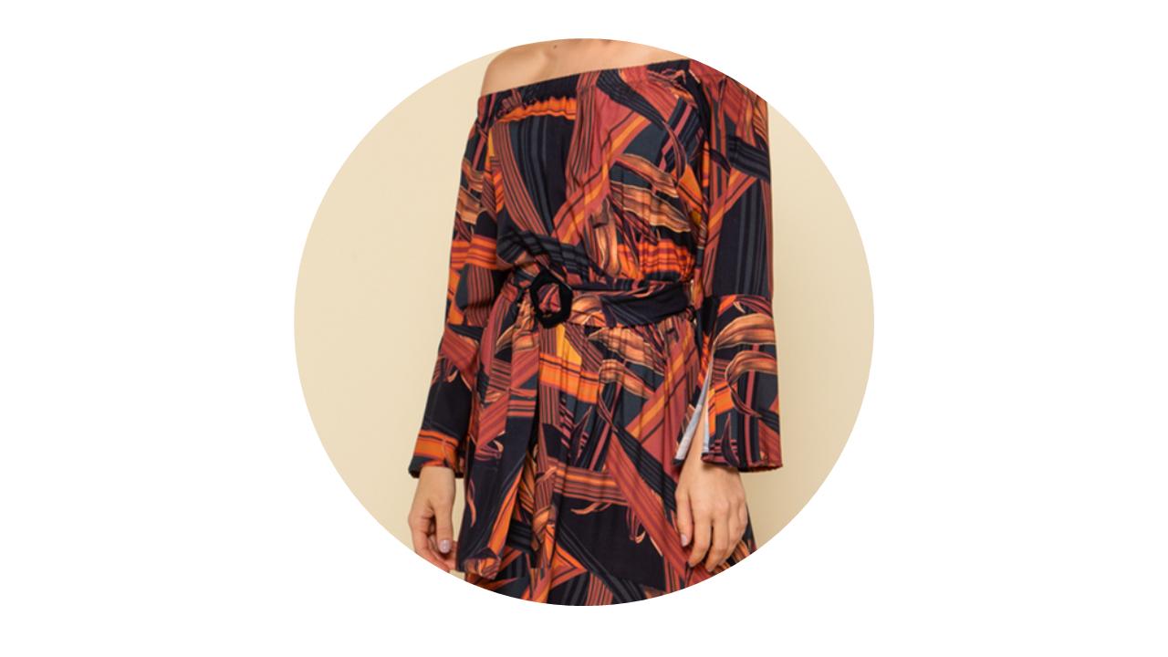 p70365 vestido longo praia manga longa estampado rouge fivela nova colecao 1