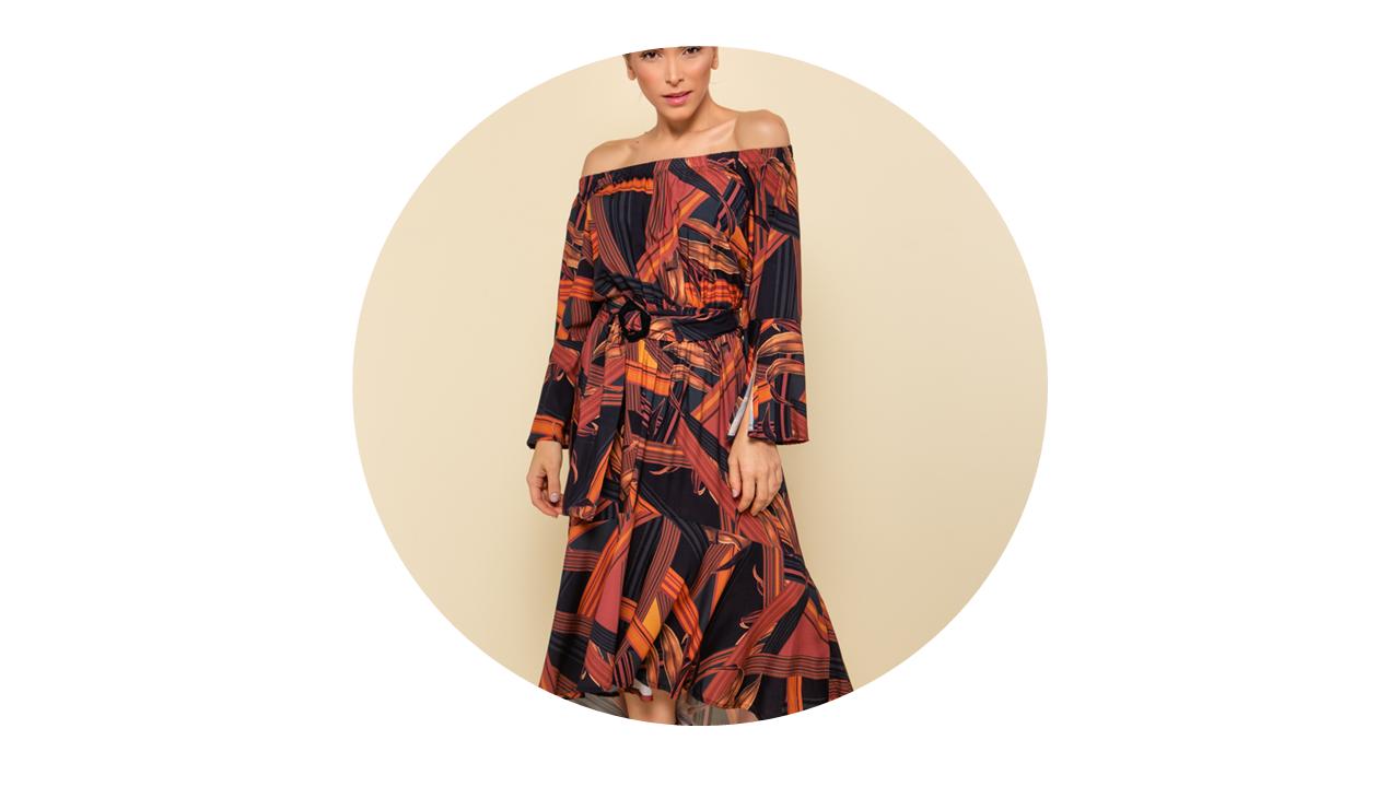 p70365 vestido longo praia manga longa estampado rouge fivela nova colecao
